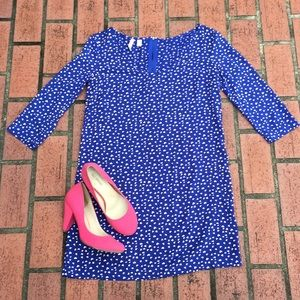 MNG by Mango | Blue 3/4 sleeve dress with hearts